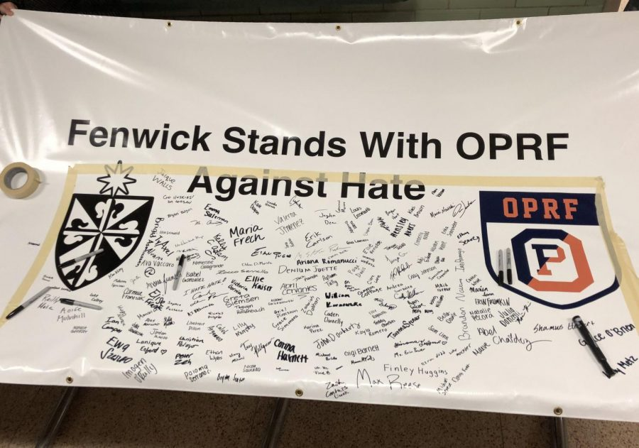 Banner+signed+by+students.